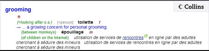 Definition du grooming